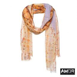 Sjaal met hawa mahal paleis print