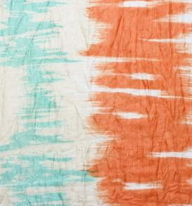 blauwe oranje 100% Zijden sjaal