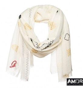 geborduurde sjaal