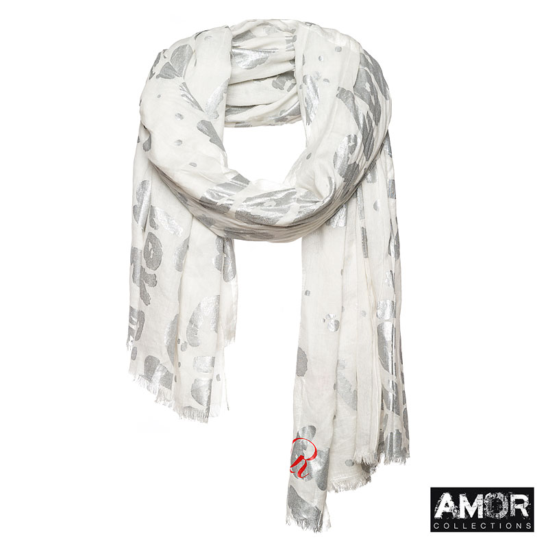 Scarf with love print - AM 724 From €59,00 for