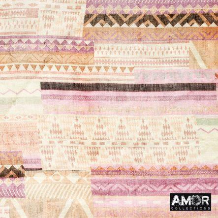 linnen met modaal sjaal roze