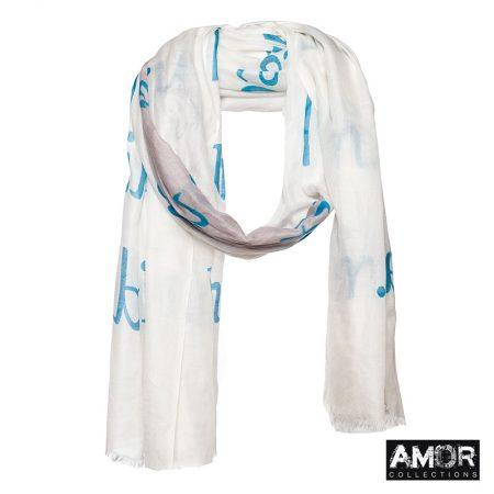 zomer sjaal modaal blauw grijs