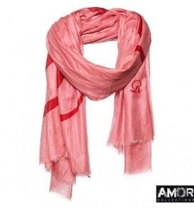 Effen shawl met geprinte 'R' logo - AM 733 Van €54,00 voor €27,00