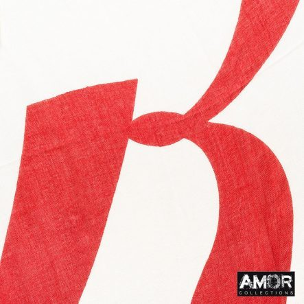 Effen sjaal met geprinte 'R' logo
