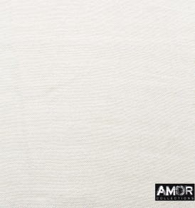 Detail foto van een effen modaal shawl in de kleur wit.