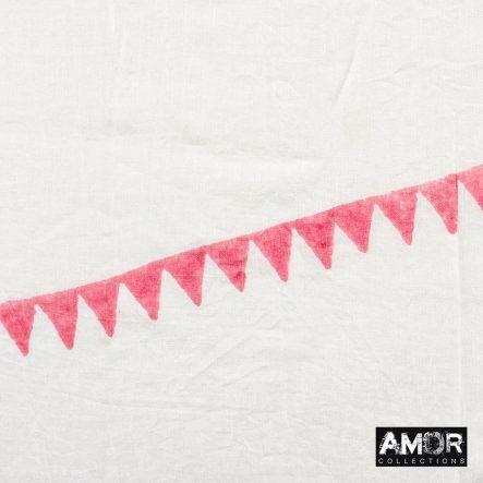 katoenen sjaal rood