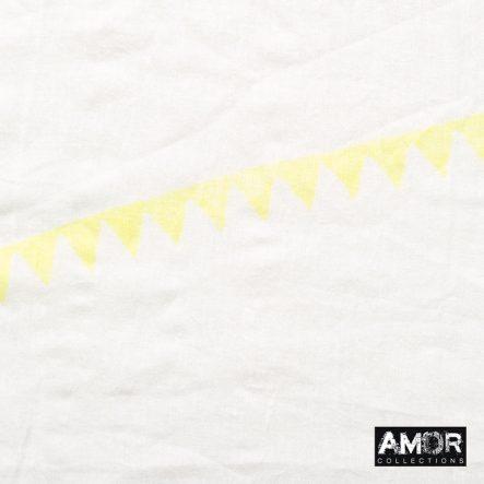 Katoenen sjaal met driehoek print