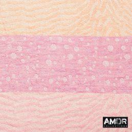 Roze katoenen sjaal strepen en stippen