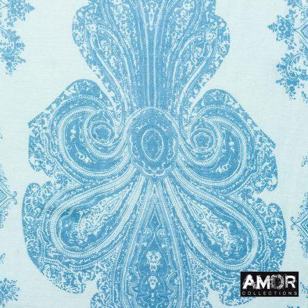 katoen/zijde sjaal blauw