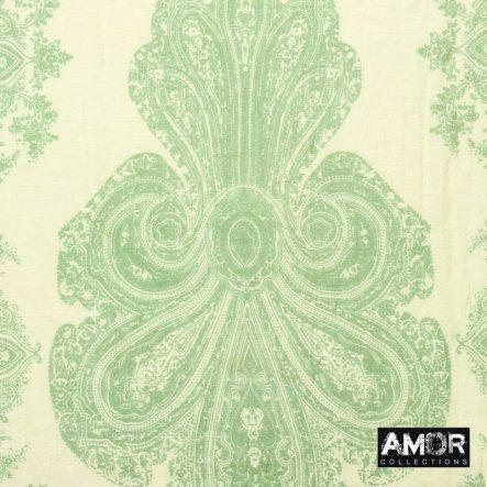 katoen/zijde sjaal groen