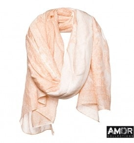 AM 643 - Shawl met print (MODE MUSTHAVE!)