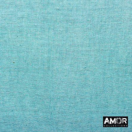 modaal/linnen sjaal parels blauw