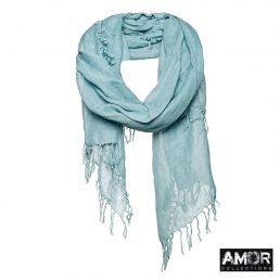 AM647 jeans blue sjaal