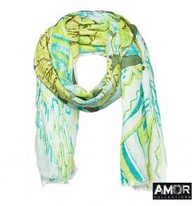 Een mooie linnen shawl met een prachtige bloemen print.