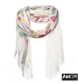Scarf with flower print. In a sublime quality modal.