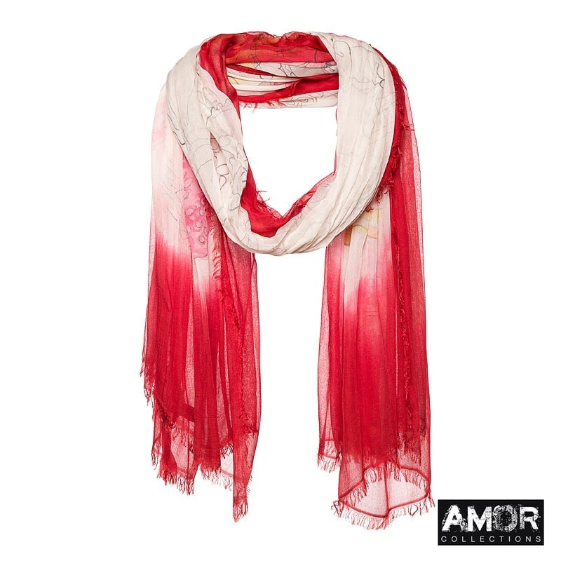 scarf with fashion accessoires print