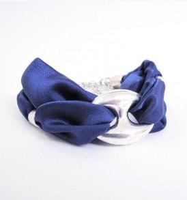 satijnen armband handgemaakt - blauw