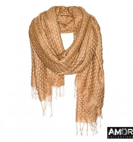 Basket weave sjaal wol en modaal