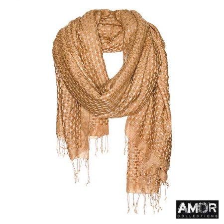 Basket weave sjaal met deze materialen wol en modaal.