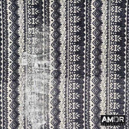 zwart sjaal silver metallic