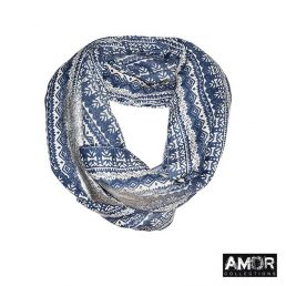 Woolen tube scarf with a dash of sparkle - AM 742