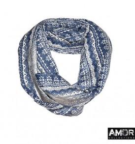 Wollen ronde sjaal verkrijgbaar in drie kleuren