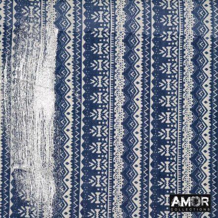 blauwe sjaal silver metallic