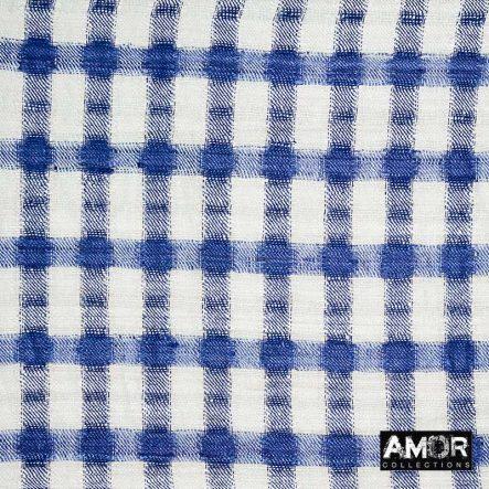 blauwe sjaal handgeweven zijden