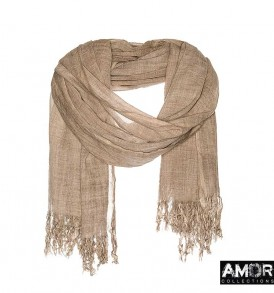 Effen sjaal met enzyme wassing