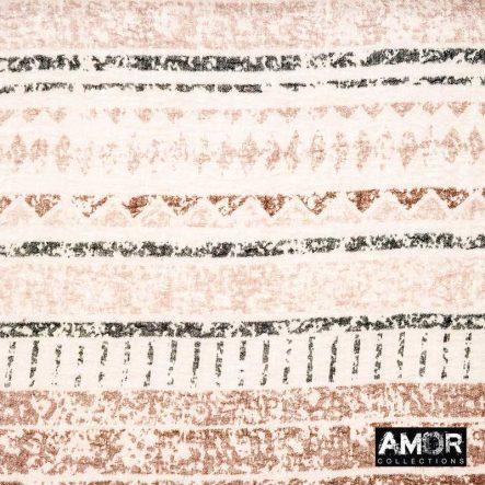 sjaal met ikat print bruin