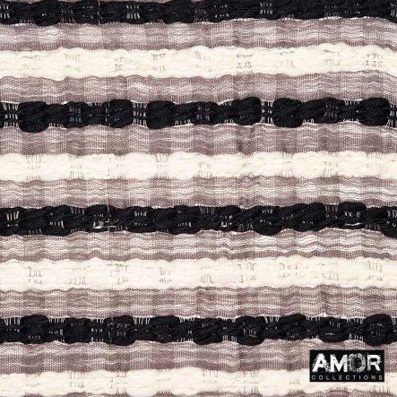 deken van wol zwart wit