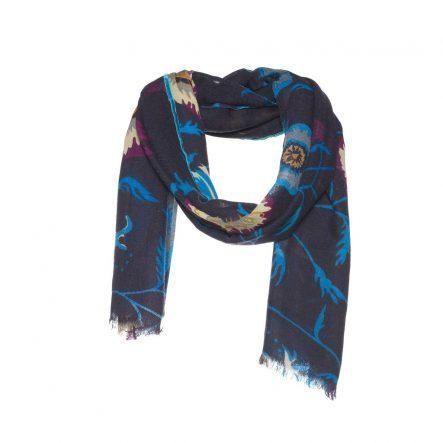 Wollen sjaal met bloemen print