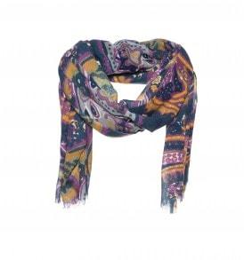 Een mooi sjaal met een multi print.