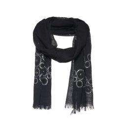 Zwarte sjaal met pailletten en studs