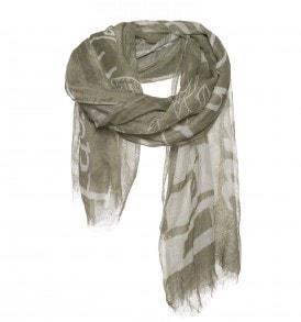 olijf kleurige sjaal