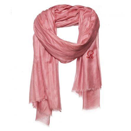 Donker roze effen modaal sjaal