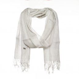 Scarf with beautiful lurex print - AM 344