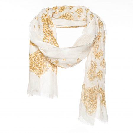 ecru wit goud sjaal