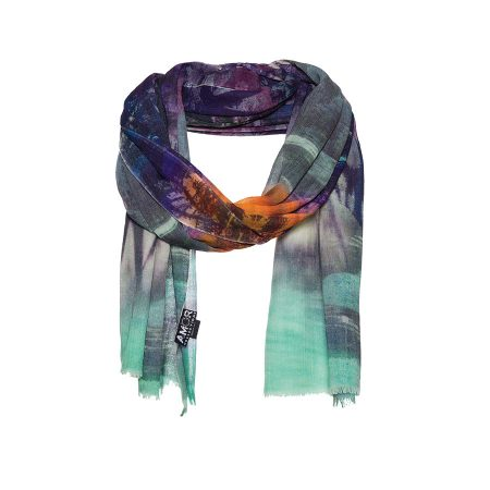 AM 835 - Scarf with digital forest print