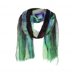 Wool with a psychedelic print - AM 827