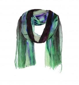 groen zwart paarse sjaal