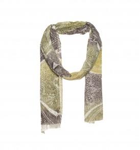 Gebreide sjaal met print