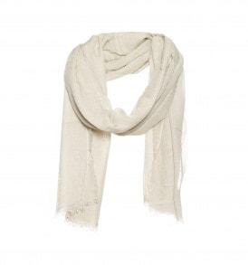 beige modaal zijde sjaal
