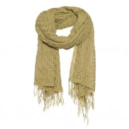 A warm scarf with basket weave - AM 677