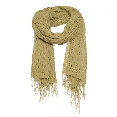 basket weave sjaal wol beige.