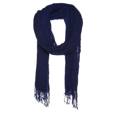 scarf with basket weave Navy
