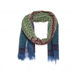 Ikat print scarf with dip dye - AM 690