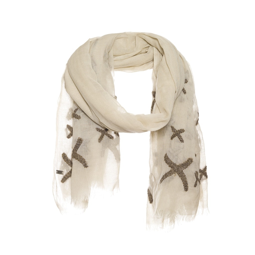 Woolen scarf with embroidery - AM 692