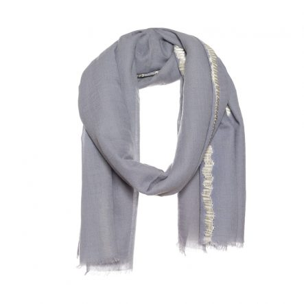 Tie dye scarf with hand embroidery - AM 693