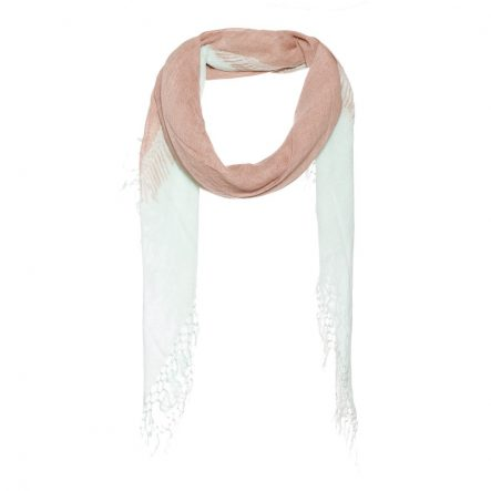 Scarf with a scarf on a scarf print